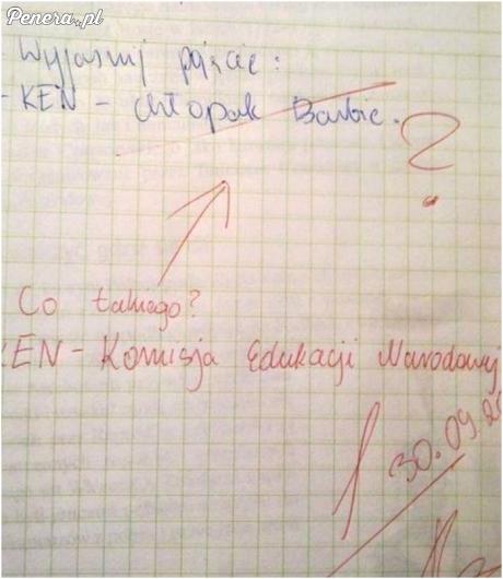 Co ta nauczycielka nie wie kto to Ken?