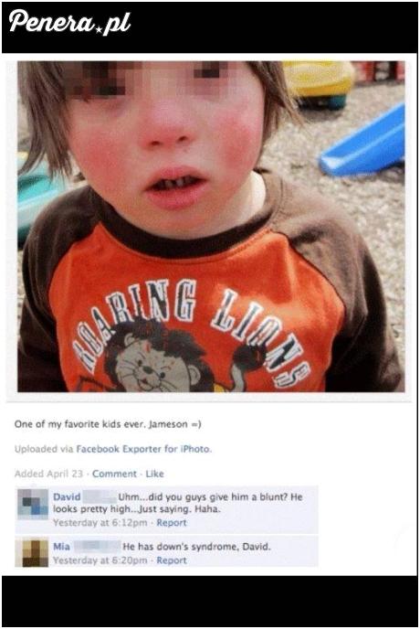 Co ten dzieciak jakiś ujarany?