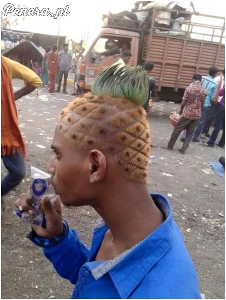 Człowiek ananas żyje