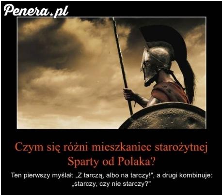 Czym się różni mieszkaniec starożytnej Sparty od Polaka?