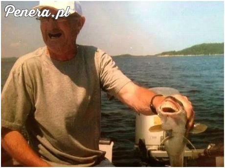Dziadek poczęstował rybę swoimi zębami
