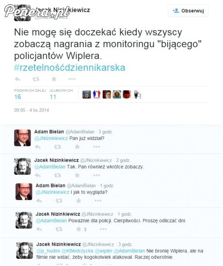 Dziennikarz twierdzi, że to policja pobiła posła Wiplera - widział nagranie