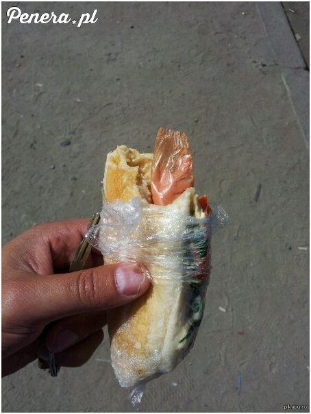 Hot Dog zabezpieczony flakiem