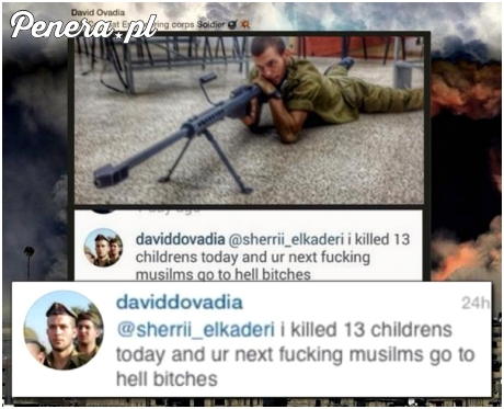 Izraelski żołnierz chwali się że zabił 13 dzieci w jeden dzień