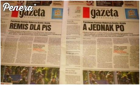 Jak to Wyborcza puściła dwie różne gazety jednego dnia