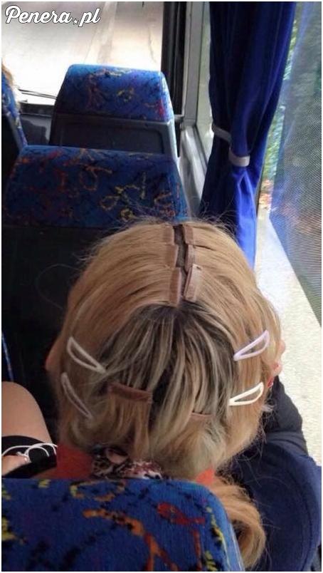 Jedziesz sobie busem a tu loszka ma takie doczepiane włosy