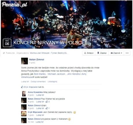 Koncert Nirvany w Polsce