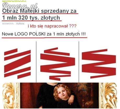 Logo Polski 1 mln zł obraz Matejki 1,3 mln zł
