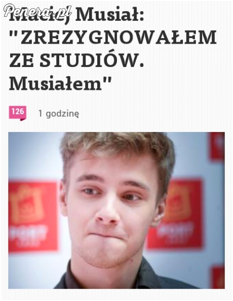 Maciej Musiał zrezygnował bo musiał