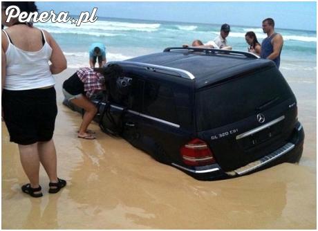 Miał być popis a skończyło się na zatopieniu auta :D