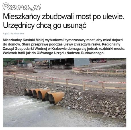 Mieszkańcy odbudowali most po ulewie - urzędnicy chcą go zniszczyć