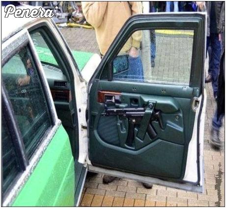 Militarne wyposażenie auta