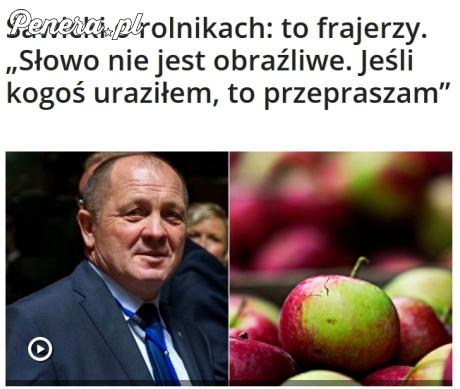Minister o rolnikach: to frajerzy