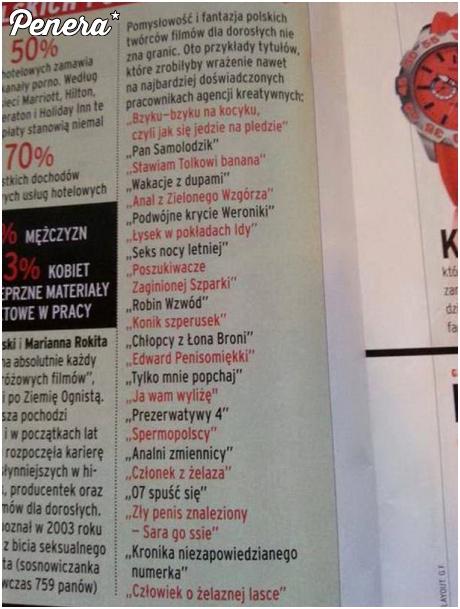 Najlepsze polskie tytuły pornosów