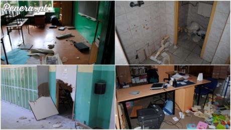 Nawaleni wandale zniszczyli szkołę