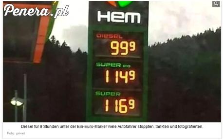 Nawet w niemczech mają tańsze paliwo niż u nas
