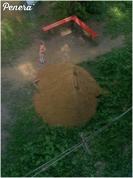 Nowa dostawa piachu do piaskownicy