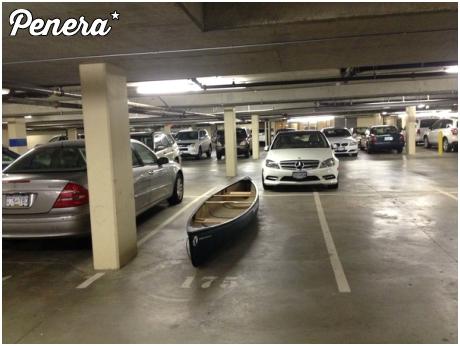 Parkowanie kajakiem