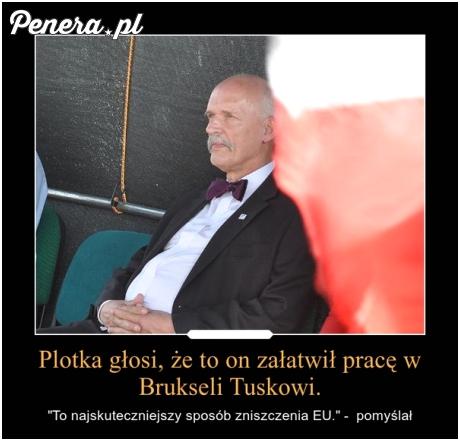 Plotka głosi że to on załatwił Tuskowi robotę