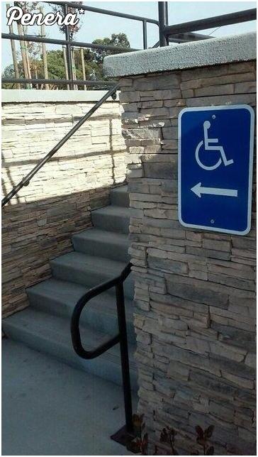 Podjazd dla niepełnosprawnych poziom hard