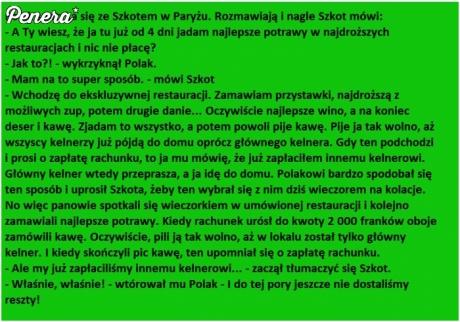 Polak i Szkot - jedzenie za free