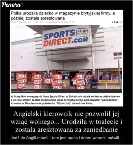Polka urodziła dziecko w magazynie brytyjskiej firmy
