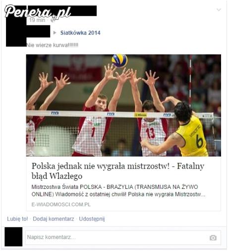 Polska jednak nie wygrała mistrzostw - fatalny błąd Wlazłego