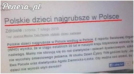Polskie dzieci najgrubsze w Polsce