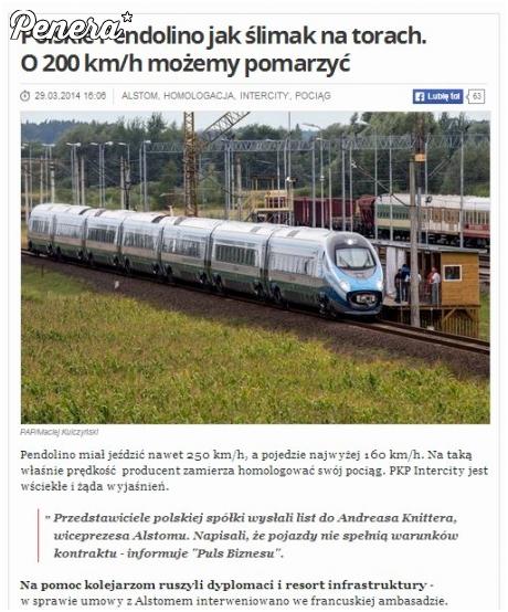 Polskie Pendolino jak ślimak