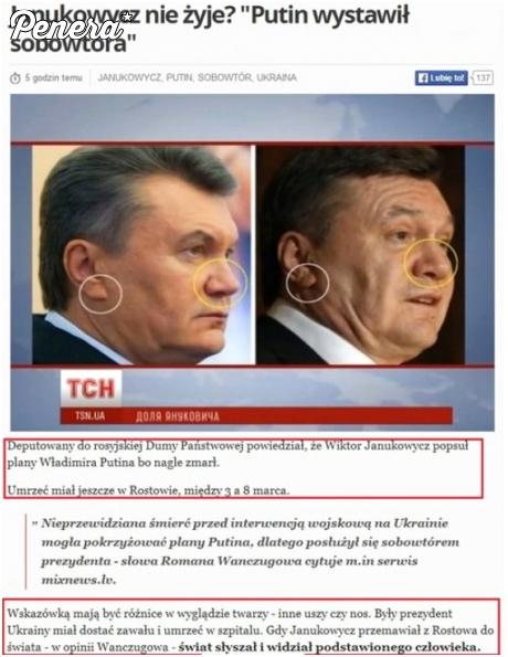 Ponoć Janukowycz nie żyje