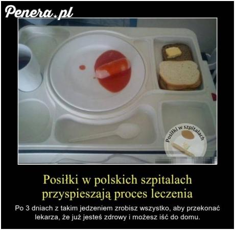 Posiłek w Polskim szpitalu