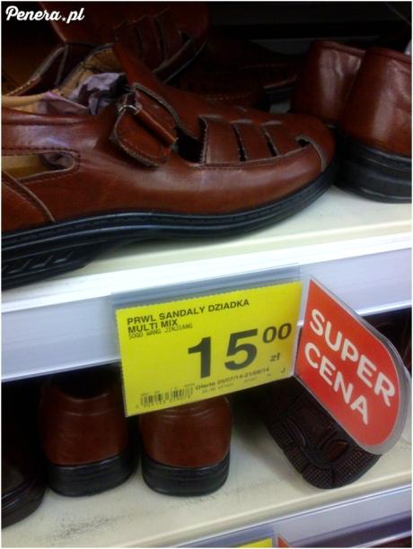 Prawilne sandały dla dziadka :D
