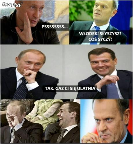 Putin i beka z Tuska