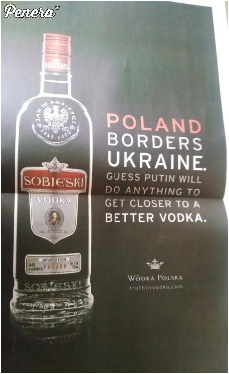 Reklama wódki Sobieski - na czasie
