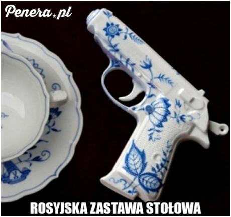 Rosyjska zastawa stołowa