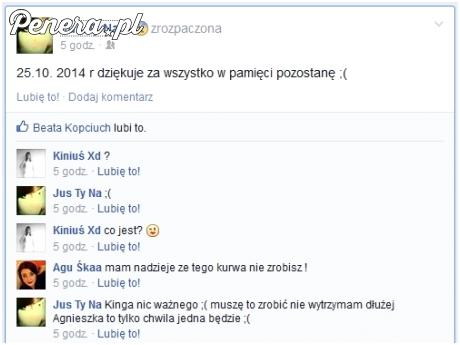 Samobójstwo na FB