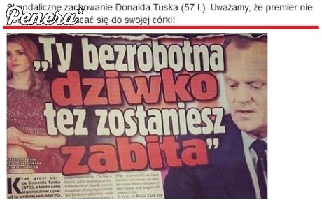 Skandaliczne zachowanie Donalda Tuska