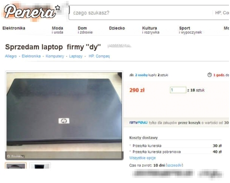 Sprzedam laptop znanej firmy