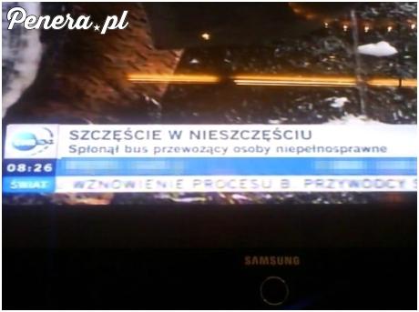 Szczęście w nieszczęściu według TVNu