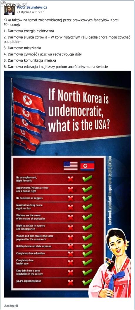 Szumi twierdzi że w Korei jest lepiej niż w USA