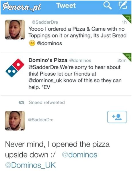 Szybko rozwiązany problem z pizzą