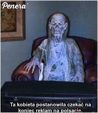 Ta kobieta czekała na zakończenie reklam w Polsacie