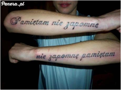 Tak głębokich przemyśleń na tatuażu to już dawno nie widziałem