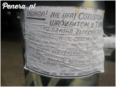 Takie tam ostrzeżenie przed wróżbitami z TVNu