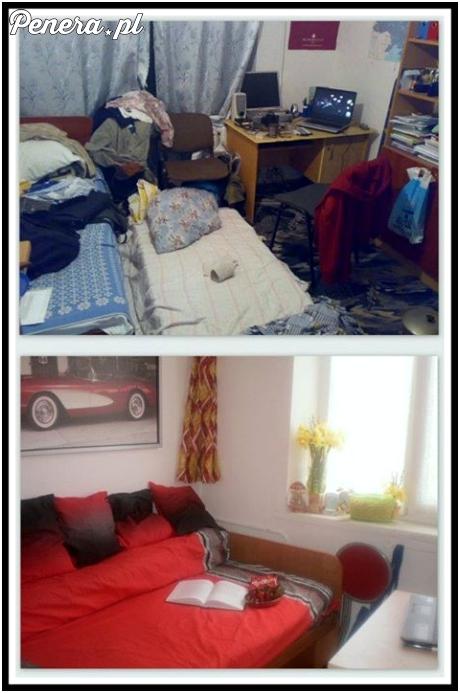 Ten sam pokój zamieszkały przez faceta i przez dziewczynę :)