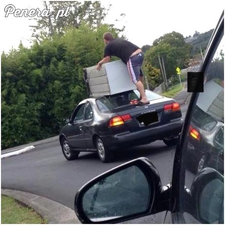 Transport lodówki w odpowiednio zabezpieczony