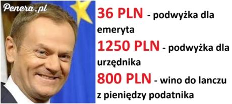 Tym Tusk chce przekupić Polaków