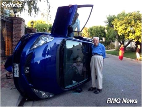 Wyluzowani dziadkowie po wypadku
