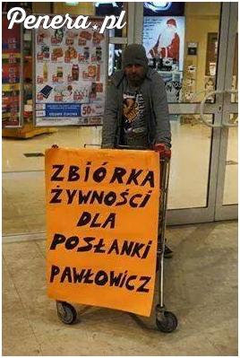 Zbiórka żywności dla posłanki Pawłowicz